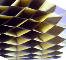 Honeycomb paper x 1. 17cm x 25cm. Black/Yellow Duo Colours